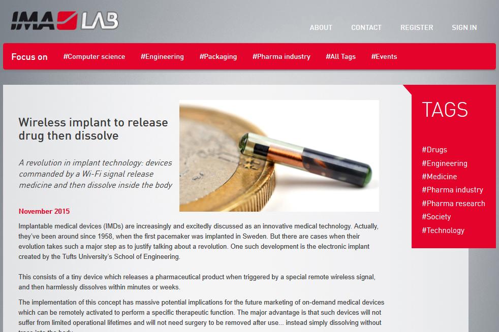 IMA Pharma - Pagina web ImaLab
