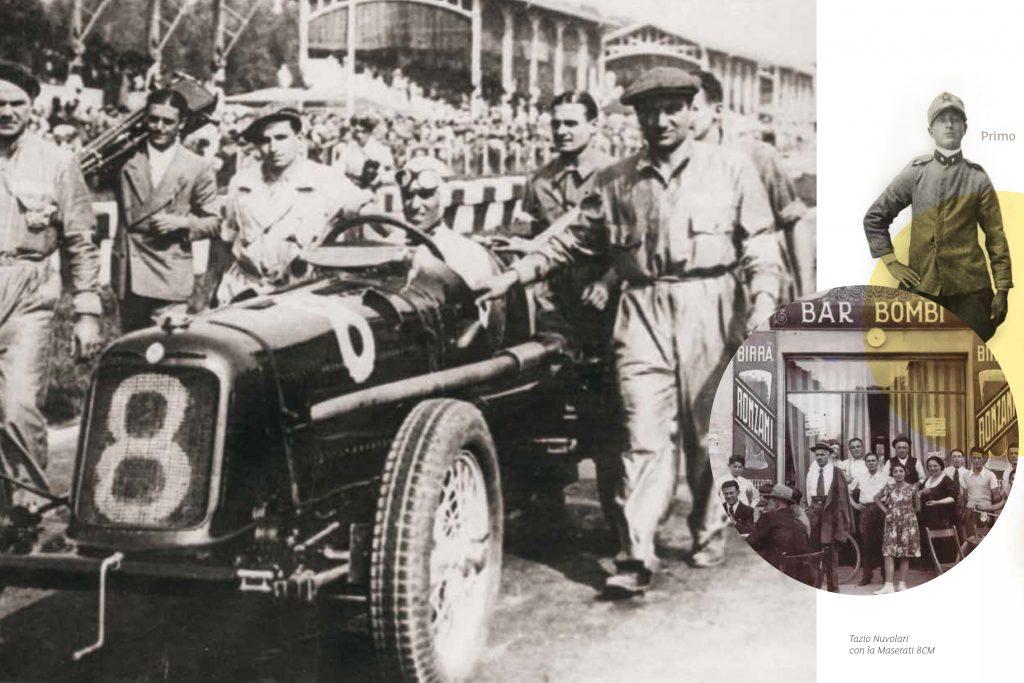 Primo Bombi e Tazio Nuvolari su Maserati