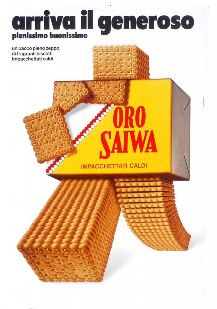 ORO SAIWA pubblicità Armando Testa 1973