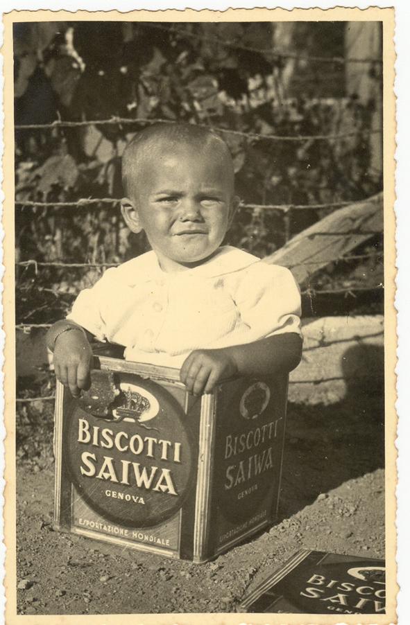 Scatola Saiwa con bambino - 1937
