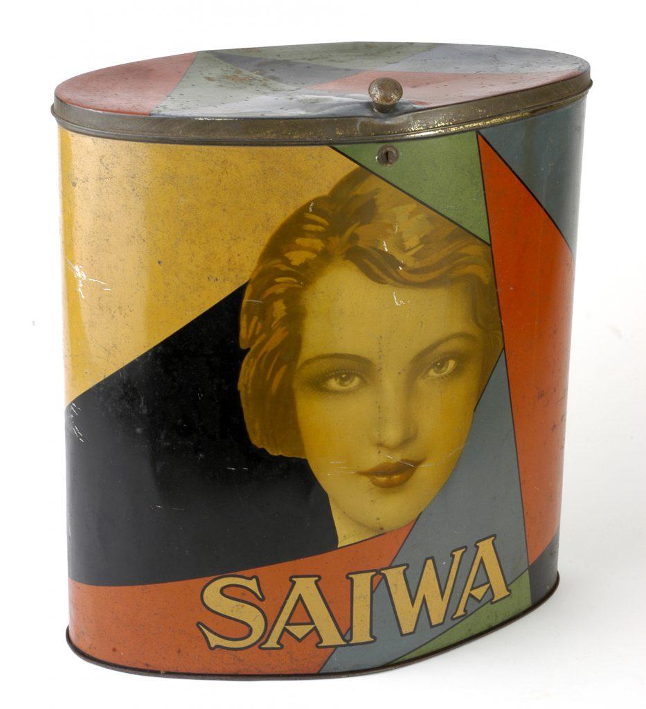 Scatola di latta Biscotti Saiwa anni '20